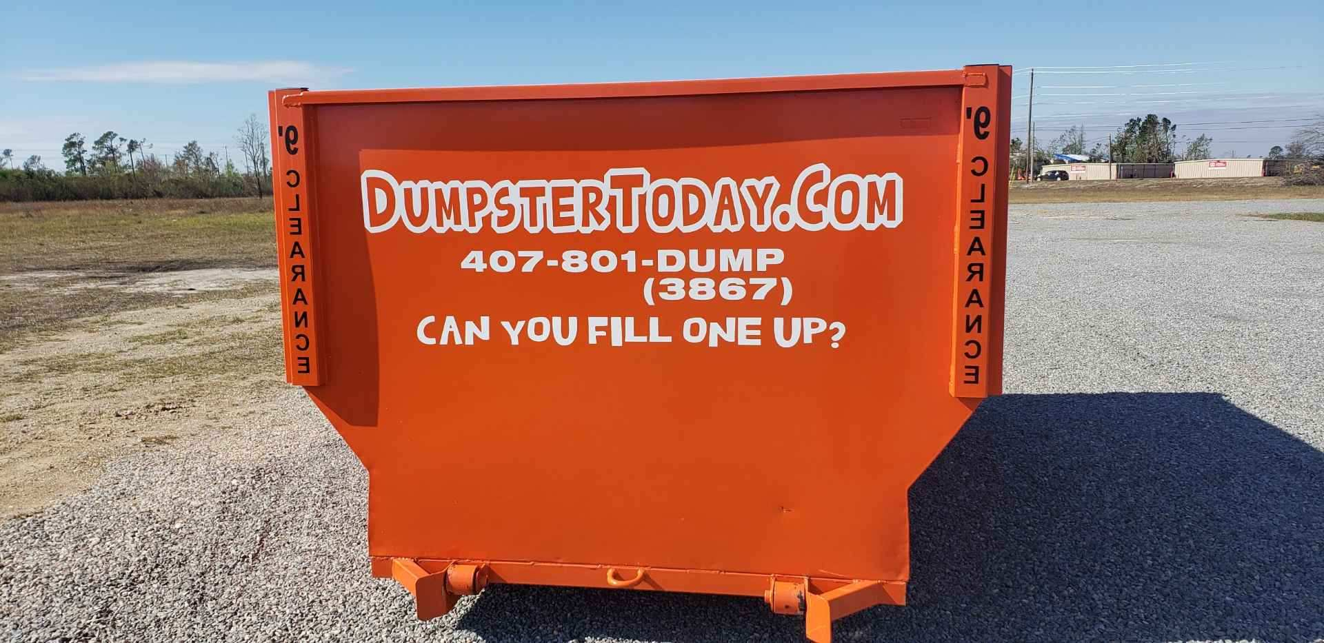 Dumpster Today Easy Dumpster Rental Orlando