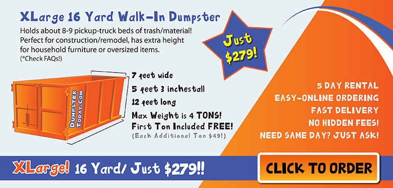 Best dumpster rental in Orlando, Order online now